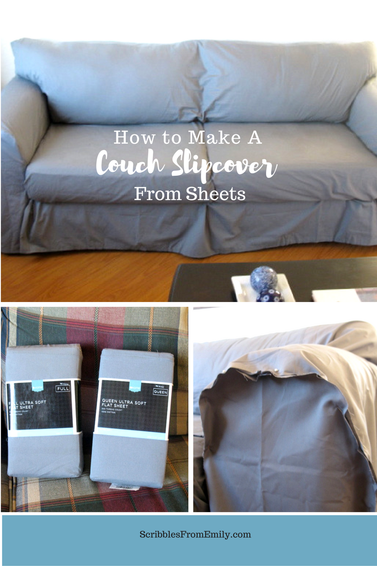 Sofa Cushions That Don't Go Flat How To Make A Couch Slipcover From Sheets Scribbles From Emily