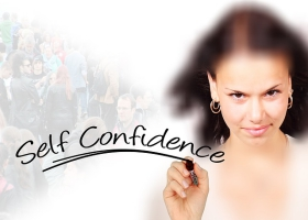 A woman with self-confidence.
