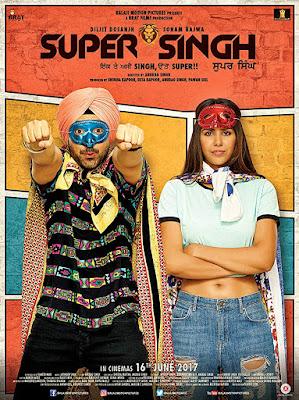 Poster Super Singh 2017 Punjabi Hindi HD 720p