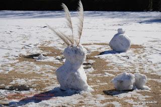 雪だるま写真