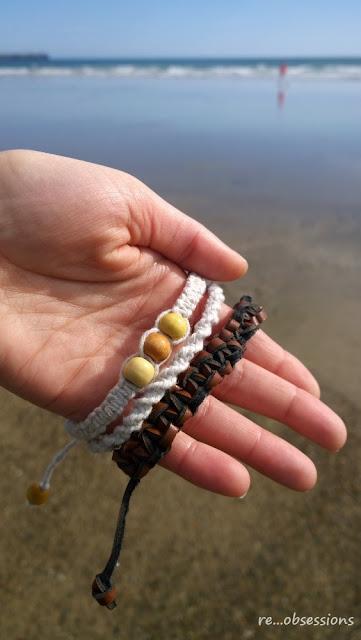 makrama, macrame, bransoletka, biżuteria, eco, recycling, belt recycle, recykling paska od spodni, jewelry, brecelyt