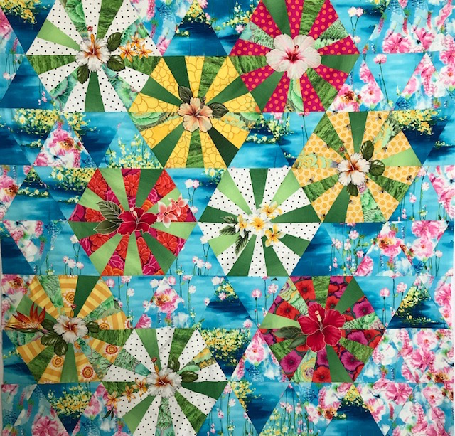 tropical blooms quilt laura nownes