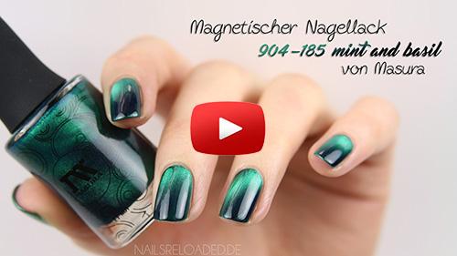 nagellack magnetisch gr n mit masura nails reloaded by. Black Bedroom Furniture Sets. Home Design Ideas