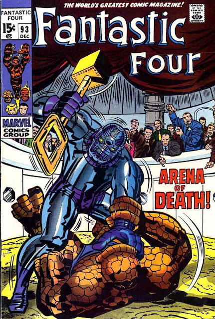 Fantastc Four v1 #93 marvel 1960s silver age comic book cover art by Jack Kirby