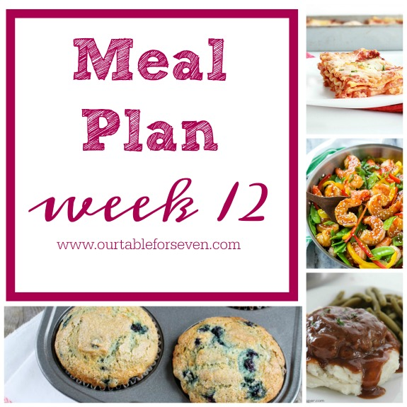 Meal Plan: Week 12
