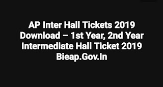 AP Inter Hall Tickets 2019 Download – 1st Year, 2nd Year Intermediate Hall Ticket 2019 Bieap.Gov.In