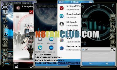 TTPod Extreme v4 31 Symbian^3 ENGLISH - 32MB (80 Skins