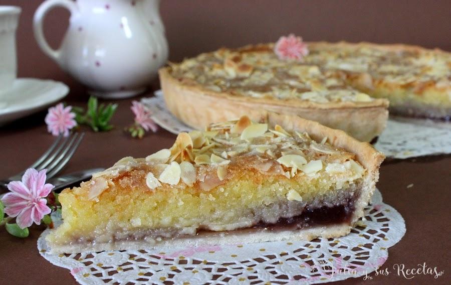 Tarta bakewel de almendra y mermelada. Julia y sus recetas