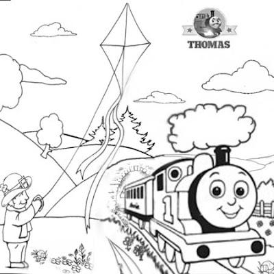 coloring book pages for trains | Desenhos - A Pipa e o Trem - Colorir e Pintar - QDB