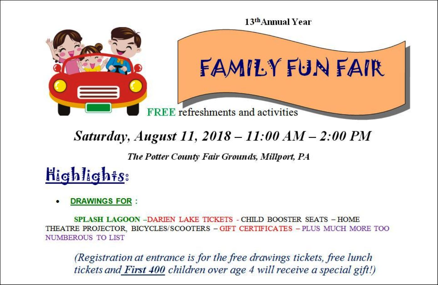 8-11 Family Fun Fair