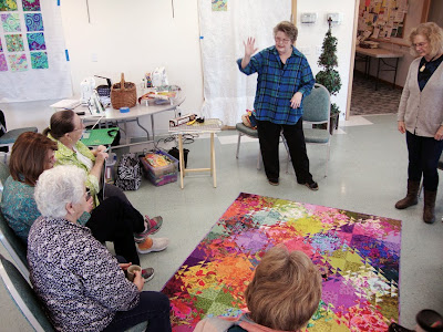 Kitty Sorgen teaching shimmer quilt for our local guild