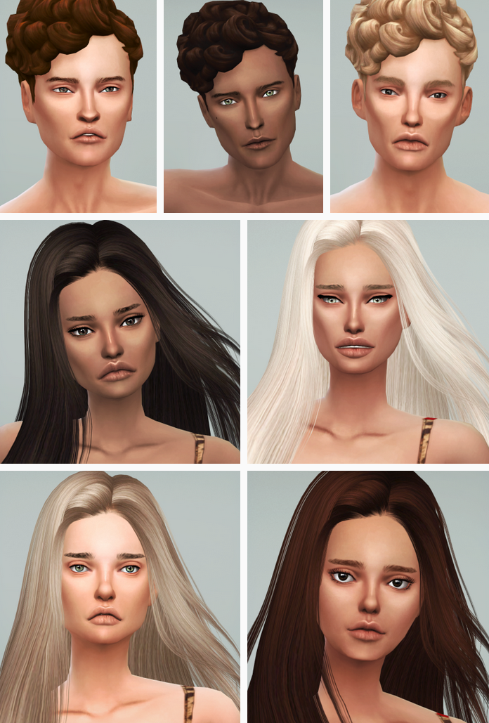 My Sims 4 Blog: Tough Overlay Skin for Males by AnvoSims
