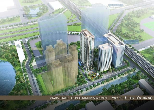 Phối cảnh chung cư Vinata Towers 289 Khuất Duy Tiến