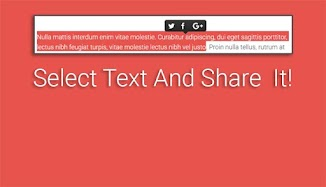 Select Text And Share It!