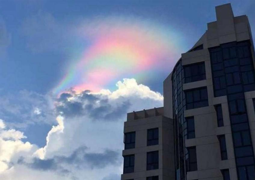 Rare 'paddle pop' rainbow in Singapore sky dazzles residents