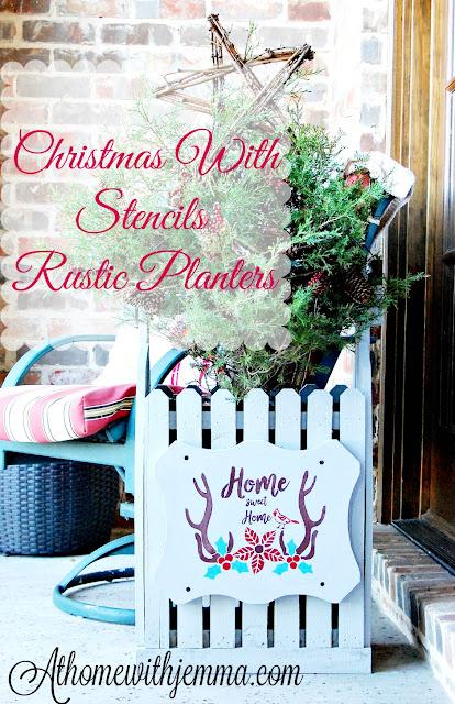 stencil-Christmas-DIY-Planter-rustic-athomewithjemma-DIY