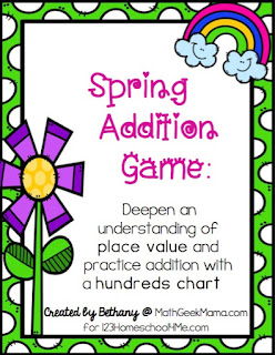 FREE Spring Addition Maths Games