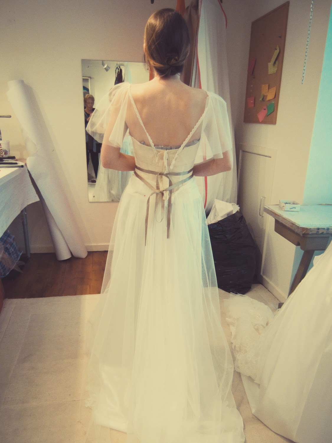 The Calico fitting  - The making of my wedding dress