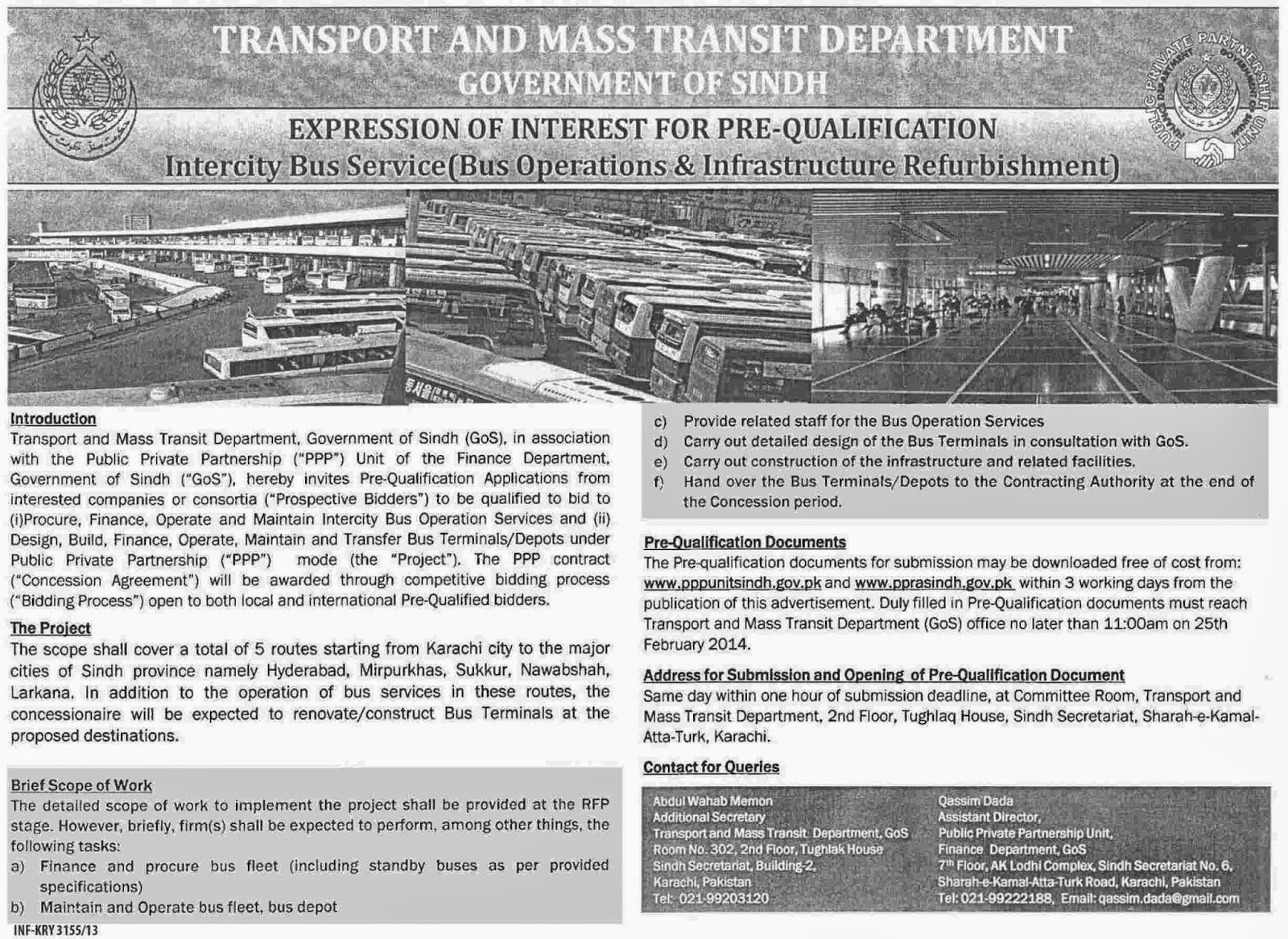 Online PapersPk: Transport & Mass Transit Department Sindh Tender Notice