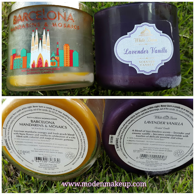 Bath and Body Works 'Mandarins & Mosaics and Lavender Vanilla' 3 Wick Candles - www.modenmakeup.com