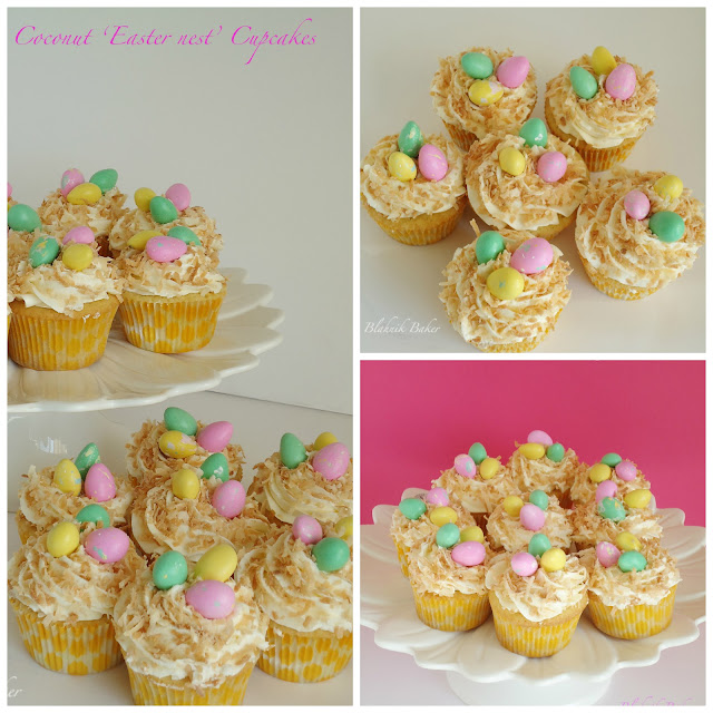 coconut easter cupcakes