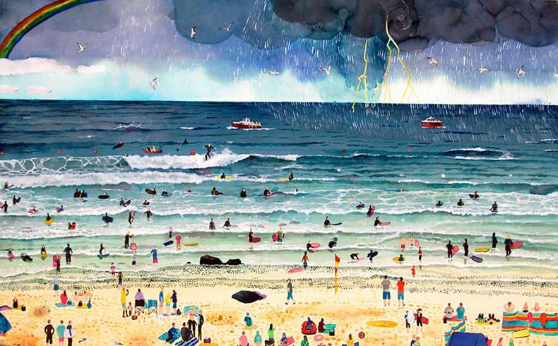 Escenas alegres de todas las temporadas pintado por Emma Haworth