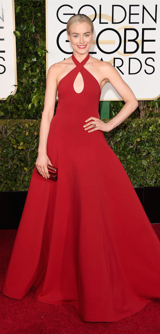 Taylor Schilling 2015 Golden Globe Awards