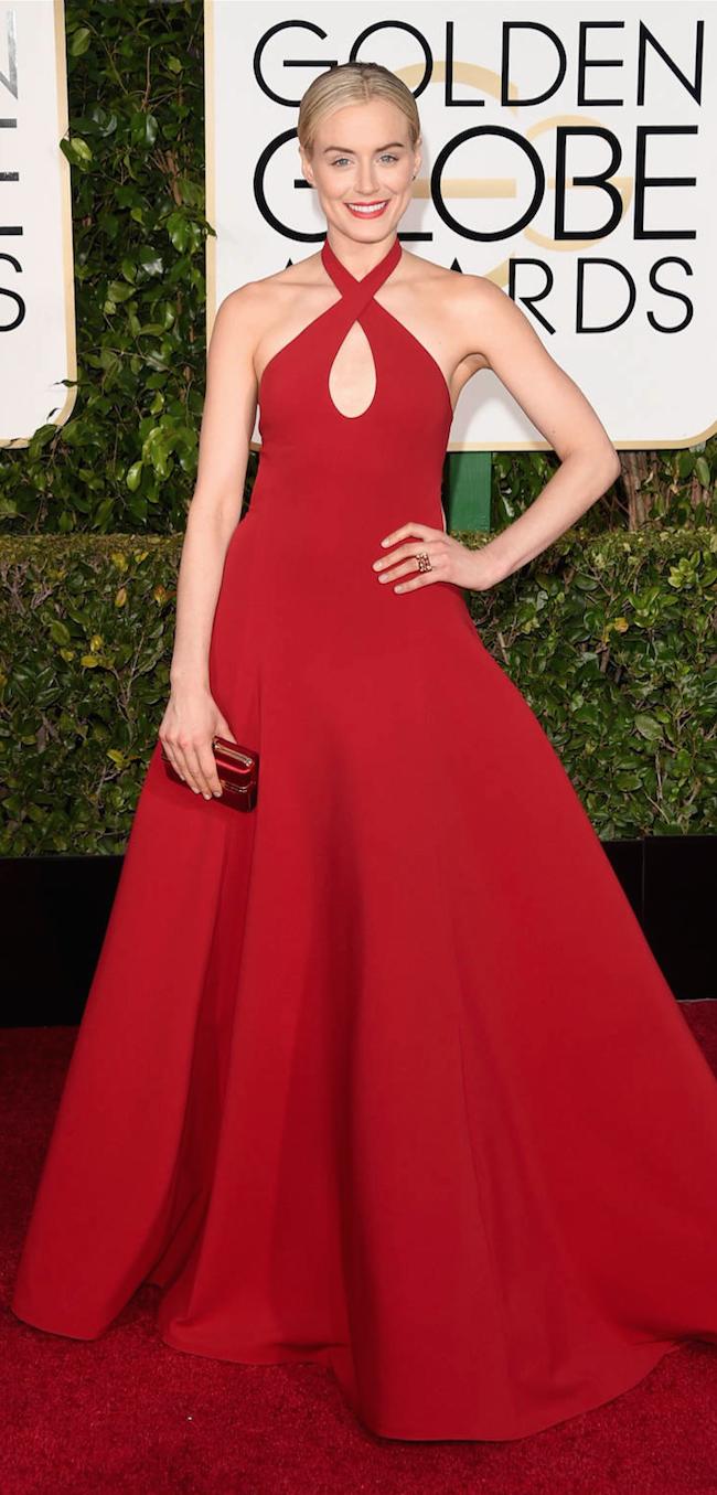 Taylor Schilling 2015 Golden Globe Awards