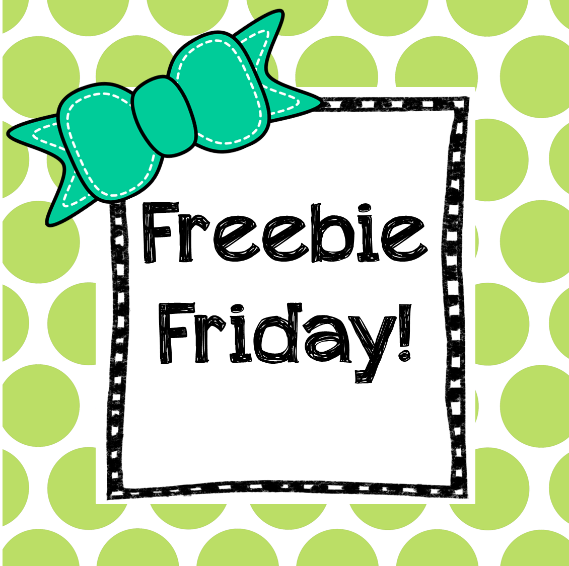 Preschool Ponderings Friday Freebie