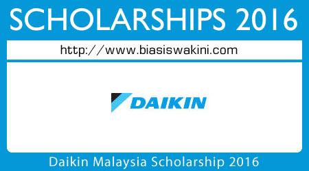 Daikin Malaysia Scholarship 2016