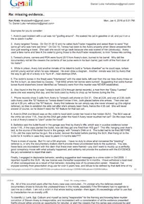 Letter from Ken Kratz