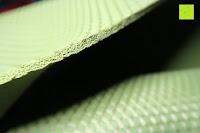 Dicke: Yogamatte aus natürlichen Gummi (Kautschuk) - »Rubin« 183x61x0,4cm - sehr rutschfeste Matte für Yoga : ideal für Yogalehrer & Yogastudios (Studio-Qualität). Erhältich in 6 Trendfarben : pink hellblau grün lila navyblau & schwarz. Exzellent geeignet für Yogaübungen (Asanas), Pilates & Gymnastik - die perfekte Fitnessmatte / Sportmatte dank innovativer Oberflächenstruktur - ökologisch korrekt hergestellt & REACH geprüft (keine Schadstoffe)