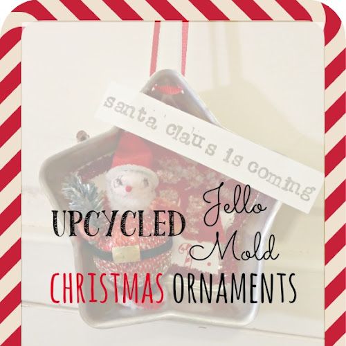 Upcycled Jello Mold Christmas Ornaments