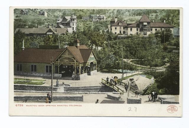 Manitou Soda Springs, Manitou, Colorado (USA) 1898 postcard by Detroit Publishing Company