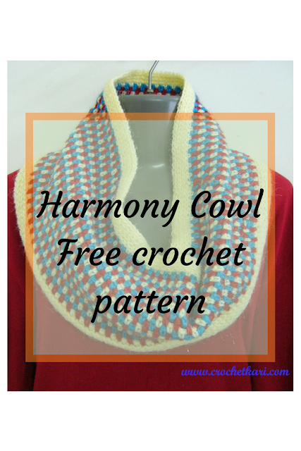 Harmony cowl free pattern