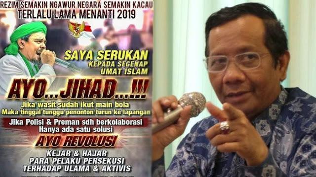 Seruan HRS Ditanggapi Mahfud MD
