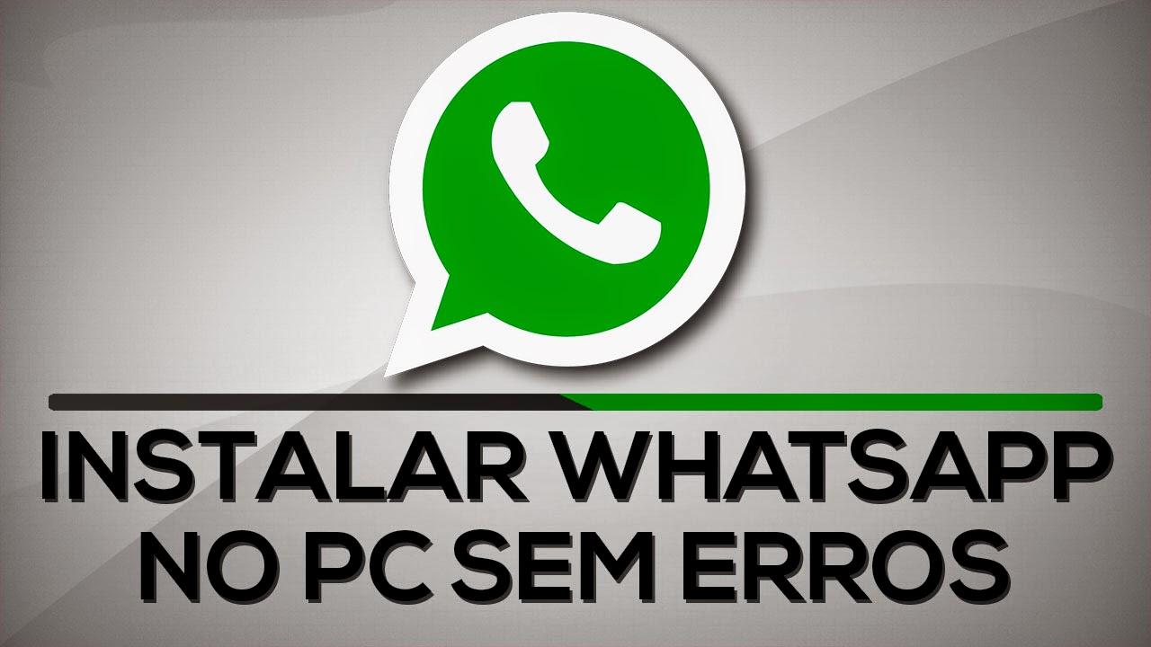 Whatsapp Facebook Baixar: Baixar Instalar E Usar WhatsApp No PC