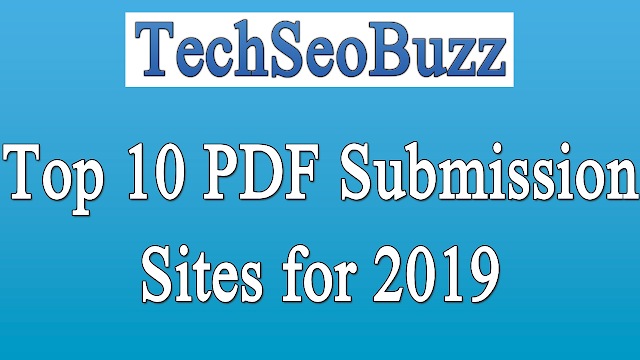 Top 10 PDF Submission Sites for 2019