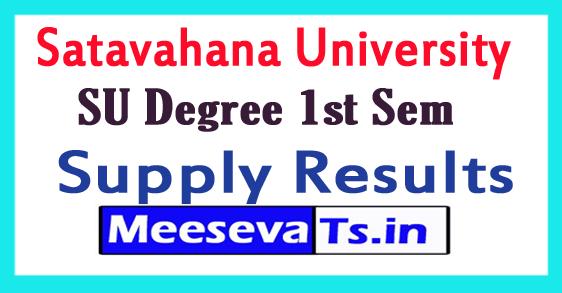 Satavahana University Degree 1st Sem Supply Results 2017