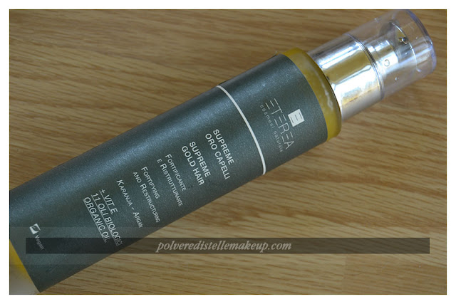 Eterea Cosmesi Oro Capelli Packaging