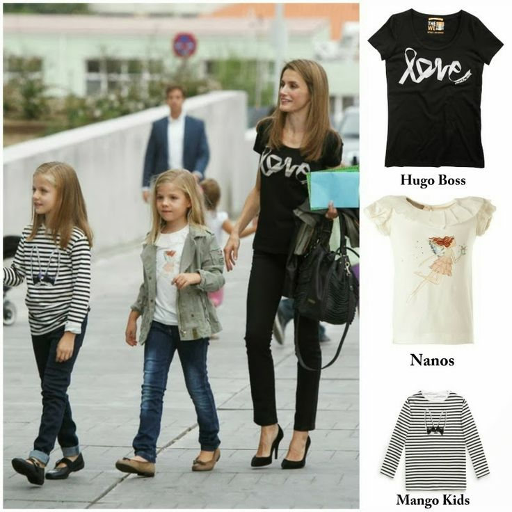 Princess Letizia in Hugo Boss & İnfanta Leonor in Mango Kids  & İnfanta Sofia in Nanos