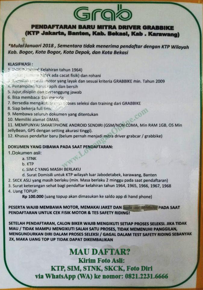 Pendaftaran Grab Cibubur 2019 Info Dan Alamat Kantor Grab