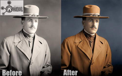 Cara memberi warna pada foto hitam putih menggunakan photoshop - Converting a black and white photo to color