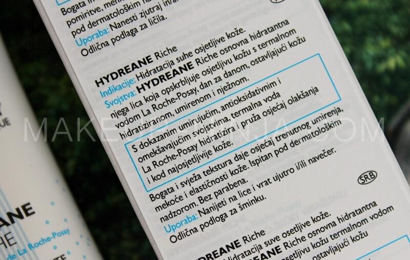 LA ROCHE-POSAY HYDREANE RICHE recenzija review sastojci