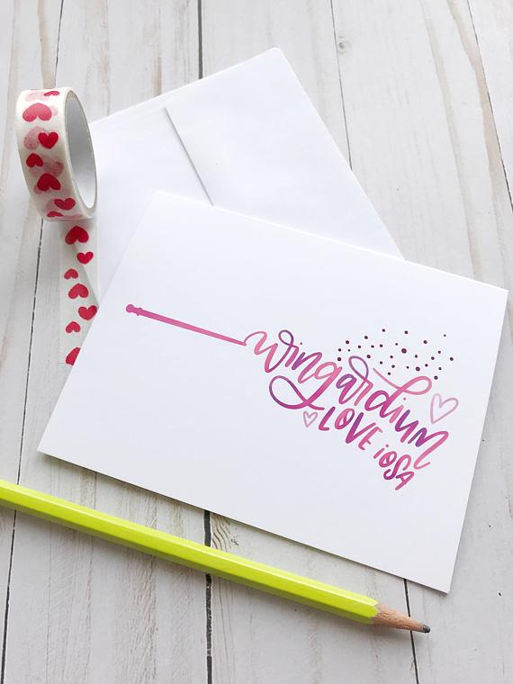 Wingardium Loveiso Harry Potter Valentines Day Half Pint Prints