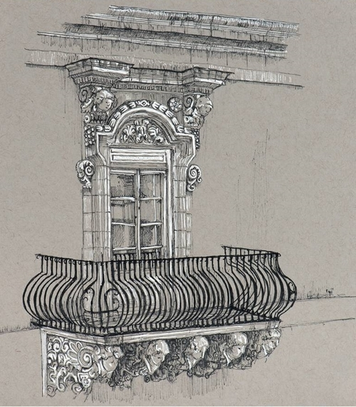 03-Parisian-Balcony-Phoebe-Atkey-Architecture-Urban-Drawings-and-Interior-Design-Sketches-www-designstack-co