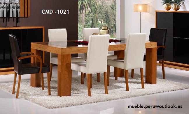 Mueble peru sakuray comedor de madera cmd 1021 for Muebles de madera peru