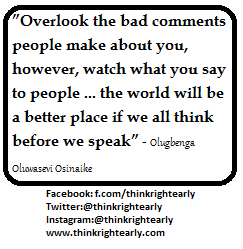 Welcome To Think Right Early Quote On Comments