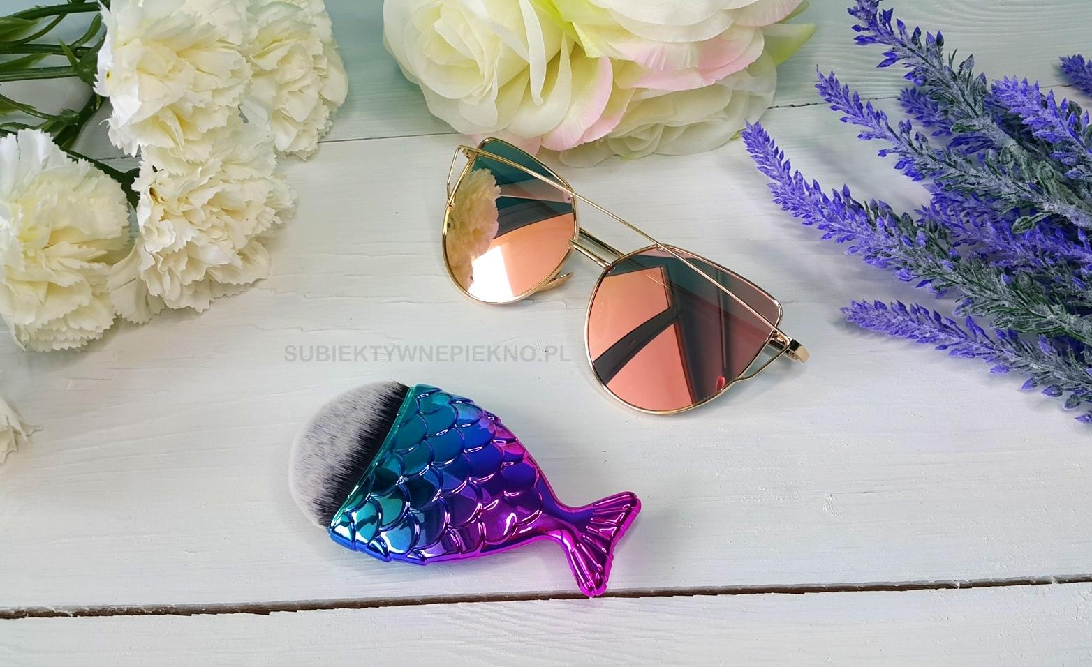 zakupy aliexpress pedzel rybka okulary
