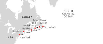 Hurtigruten's Fram New England Canada Cruise From Halifax to New York.